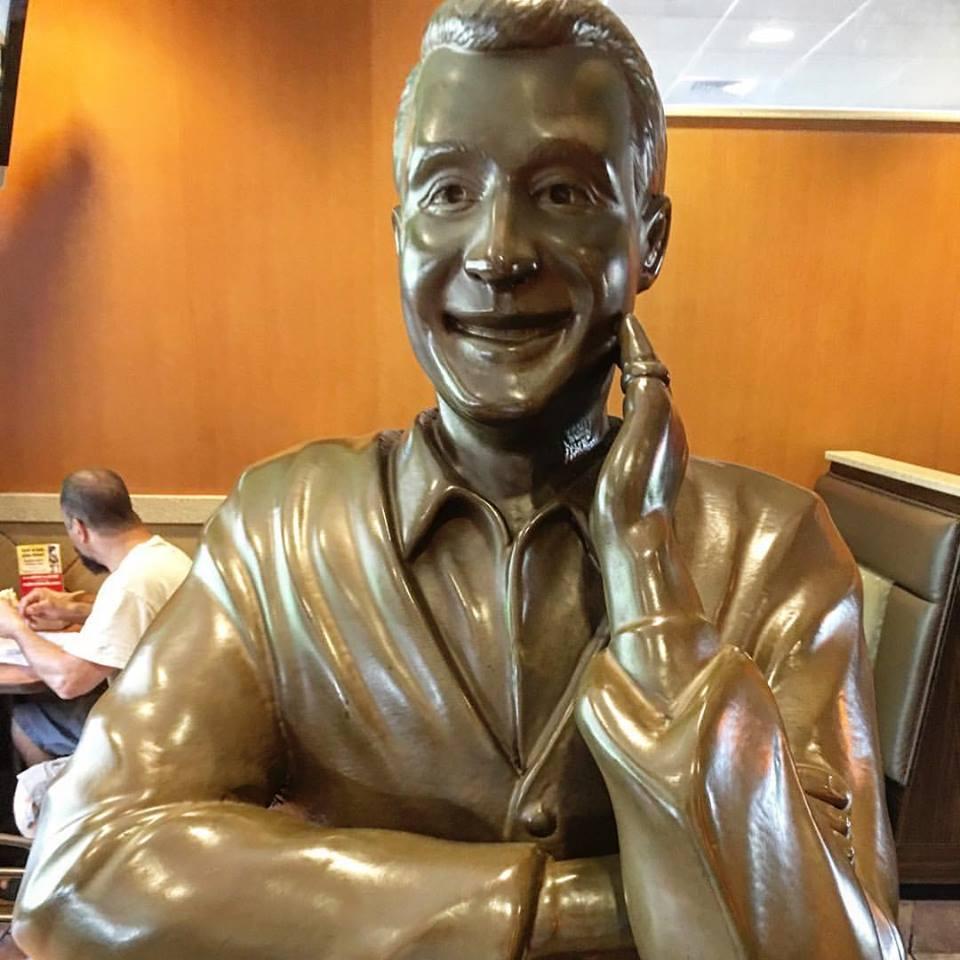 Perry Como Statue in the Canonsburg McDonald's