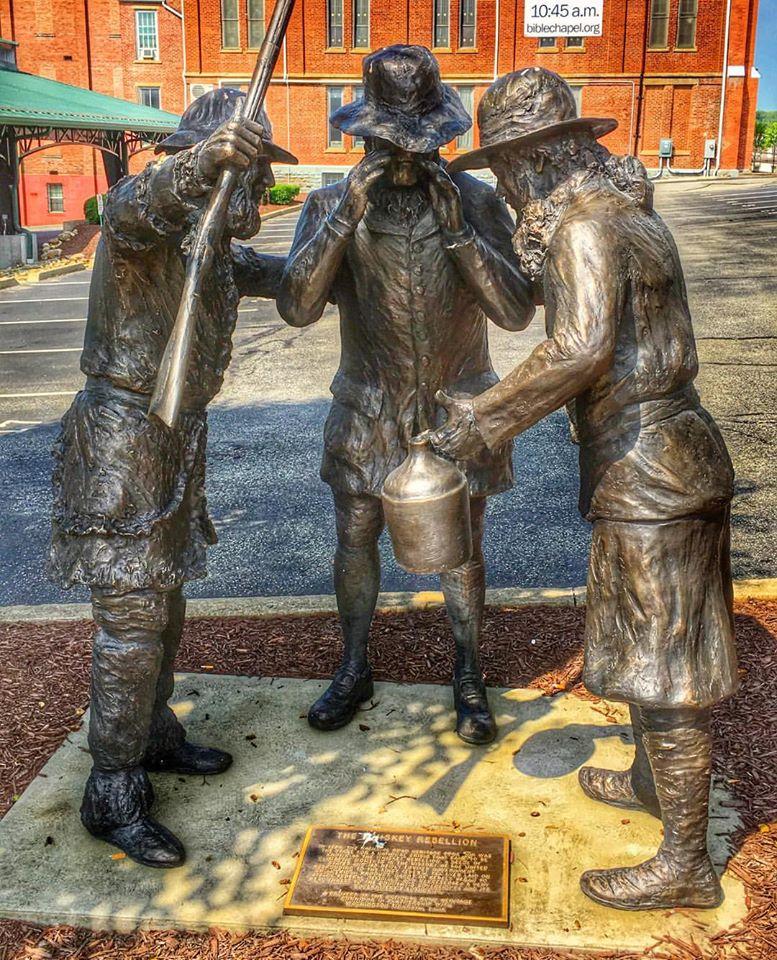 Whiskey Rebellion Statue in Washington, PA