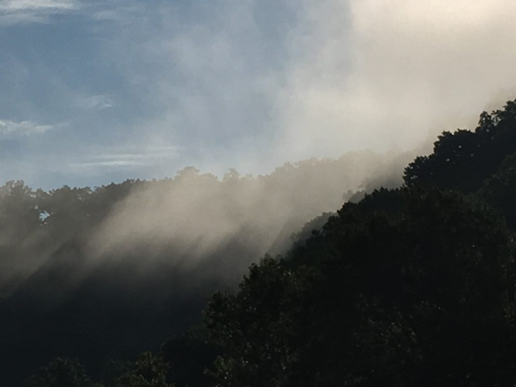 Fog in the Mountains of SE Kentucky near Whitesburg