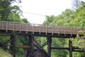 One of a number of Dawkins Trail Trestles