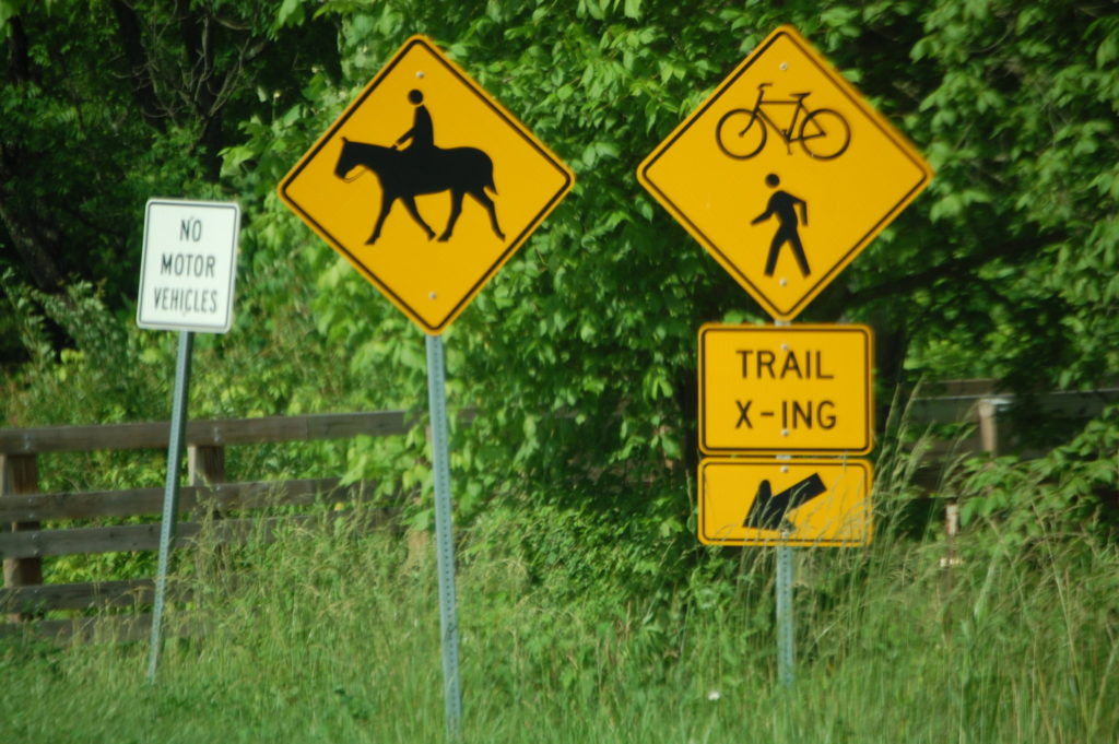 Good signage for crossings on KY 825