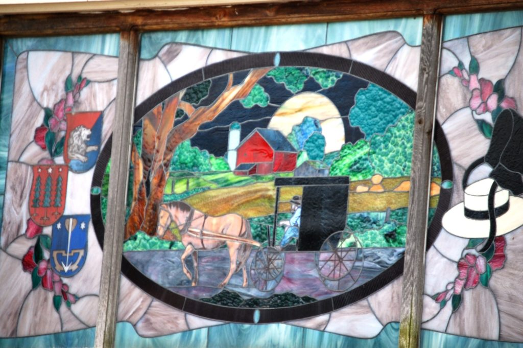 One of a number of Stained Glass pieces in Heini's - taken in July 2011