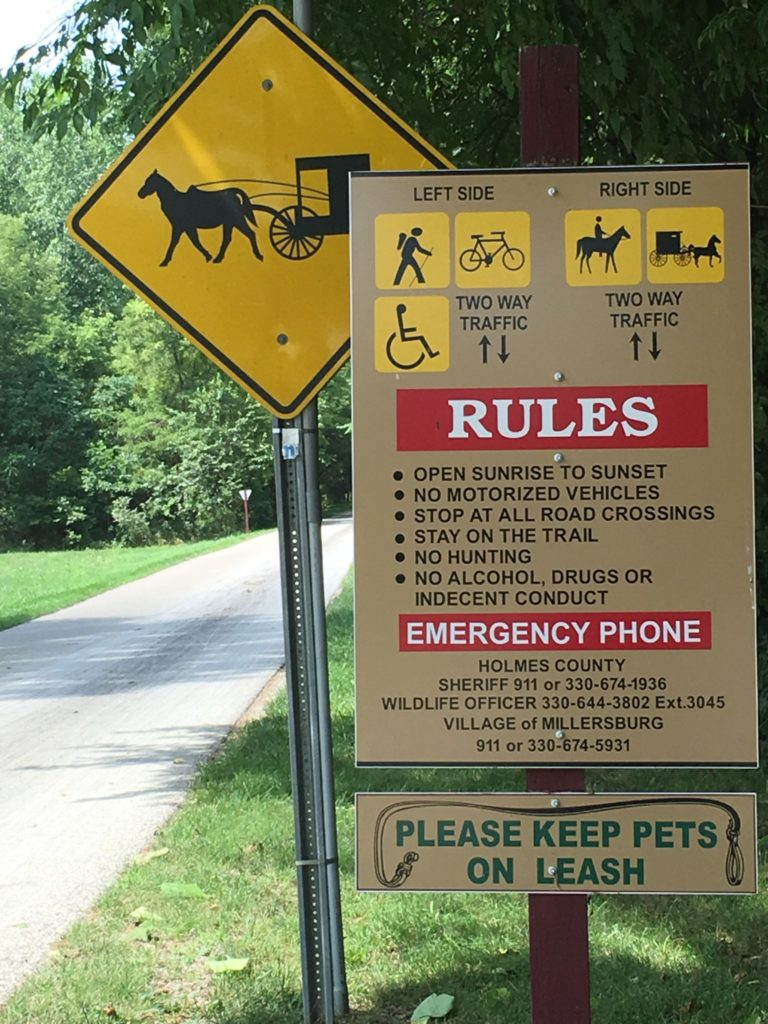 Trail Sign in Millersburg, OH