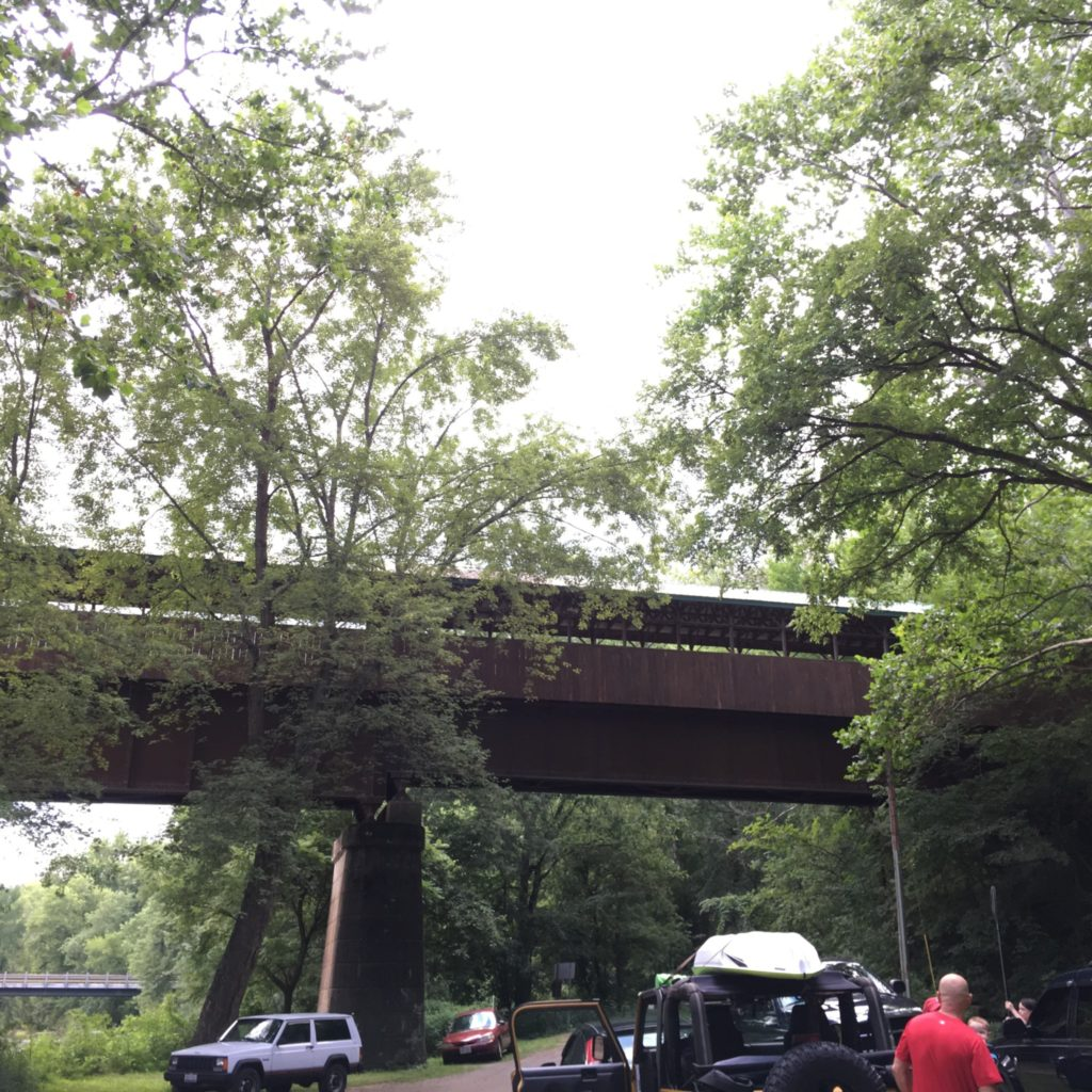 The Bridge of Dreams as seen from the Mohican River