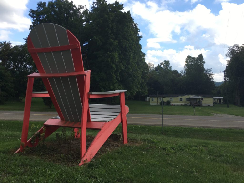 A Giant Adirondack Chair at an Amish Furniture place inear Danville, OH