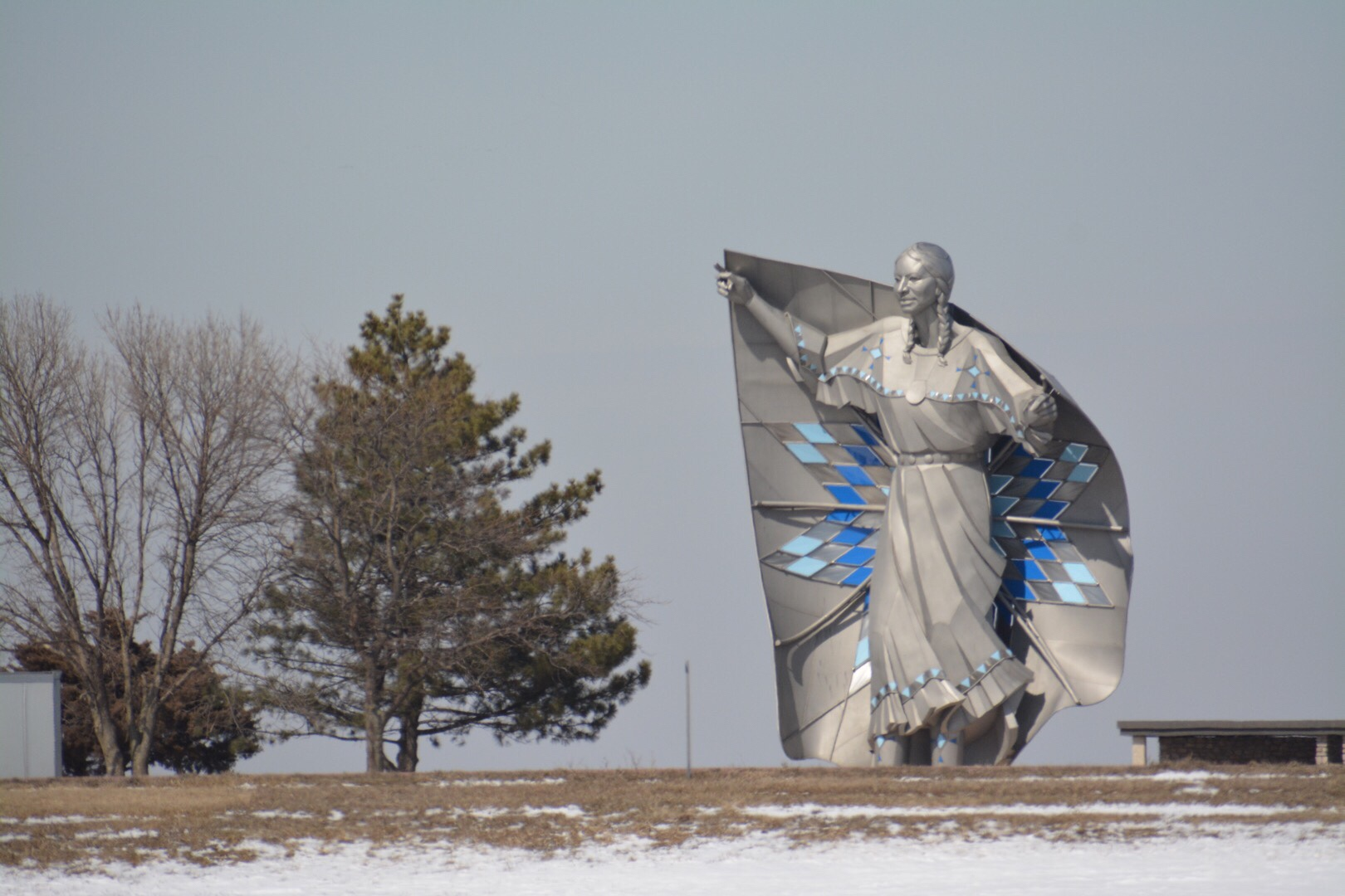 April 2018 Cross-Country Road Trip: Dignity of Earth and Sky Statue in South Dakota