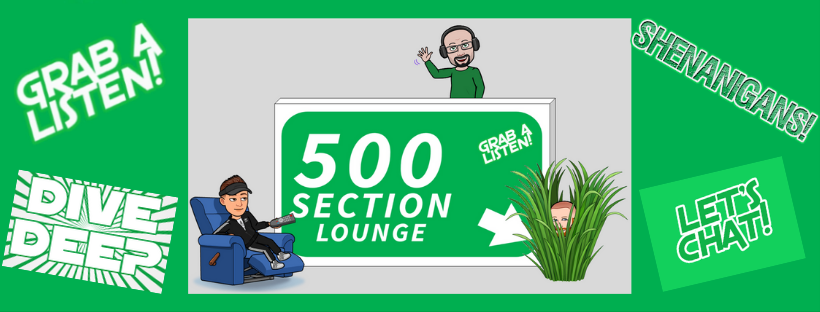 Check out my Interview on the SECTION 500 Podcast.  Released LIVE on Oct. 6, 2020